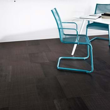 Amtico Spacia LVT in Silk Weave (SS5A2801) with Steel (SS5A2804) in Standard Block Laying Pattern