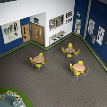 Amtico LVT in education featuring Cadence Aeria, White Oak, Dublin and Ecuador.