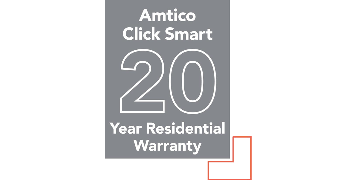 Amtico Click Smart 20 year residential warranty