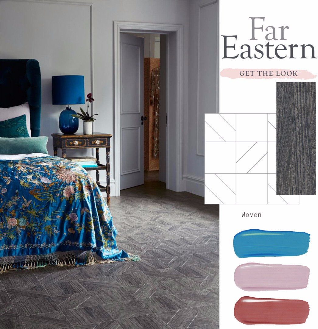 Far Eastern Look: Amtico Signature Quill Gesso in Woven laying pattern