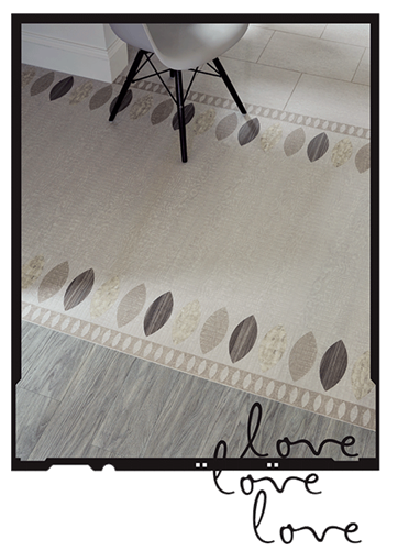 Flow together: Complementary Amtico floors and borders create a graceful flow between rooms.