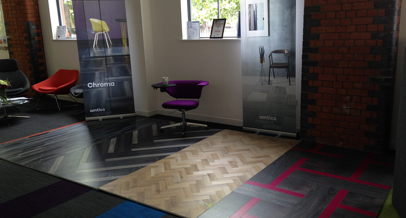 An Amtico pop-up showroom visits Roberts Limbrick in Gloucester to introduce the latest innovations from the Signature Collection