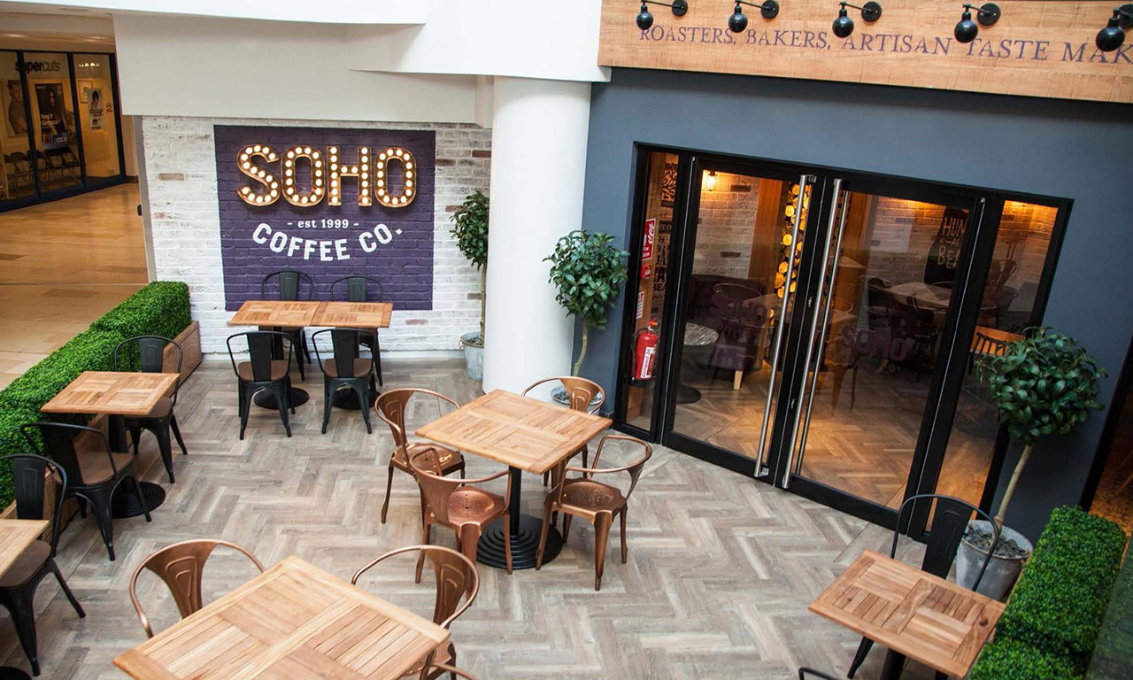 Soho Coffee Co. use Amtico Signature Aged Oak in its new Leicester branch
