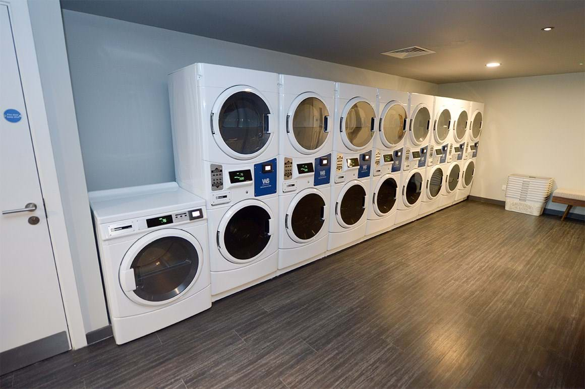 Laundry room in Amtico Spacia Cellar Oak