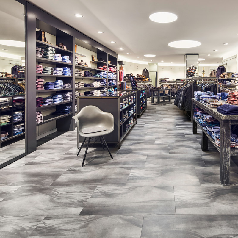 Amtico Signature Umbra Dusk for premium design retail spaces.