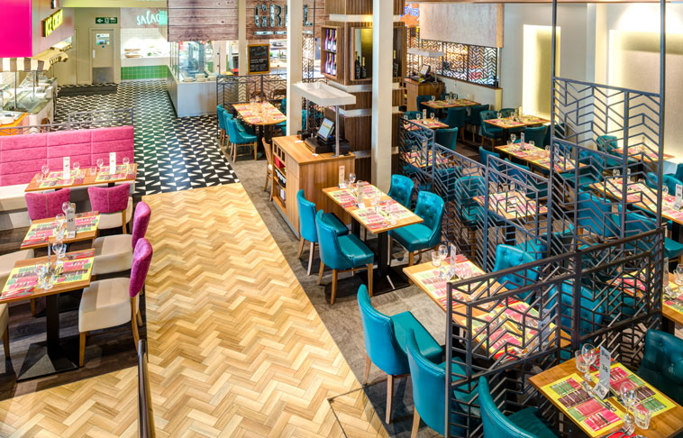 FED Restaurant case study, featuring a range of products from the Amtico Signature collection