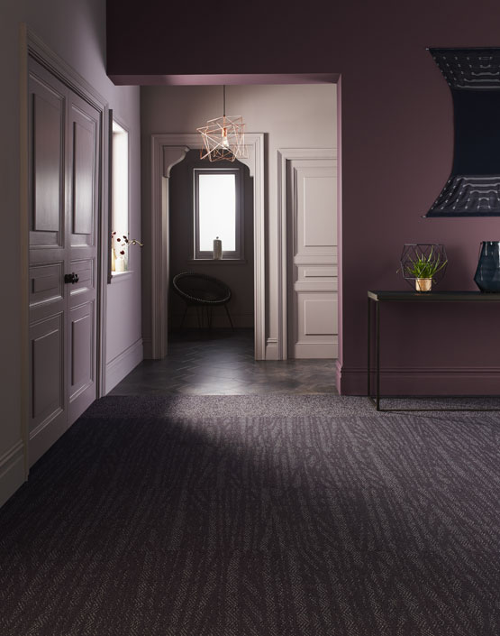 Cable Thistle and Croft Thistle in Brick configuration, shown with Amtico Signature LVT,  Kura Juniper  and Patina Atom in a Kite laying pattern.