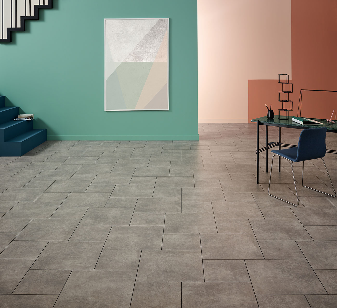 Monument Concrete (SS5S3072) in Fieldstone laying pattern with Stria Volcanic stripping