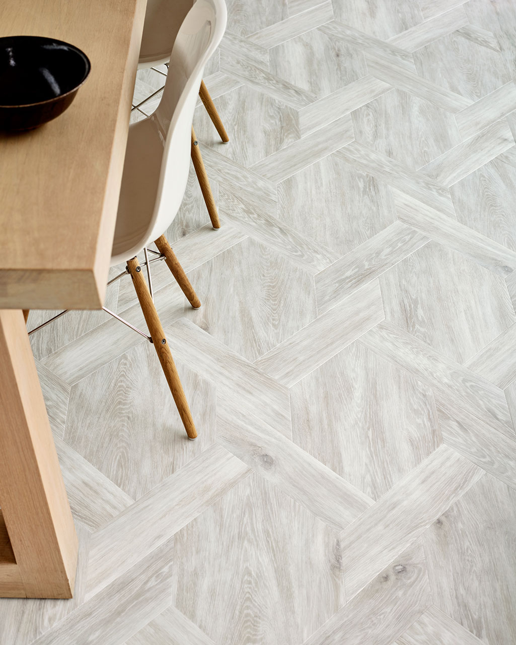 DC266 - Washed - features Amtico Signature White Wash Wood in the Castel Weave pattern
