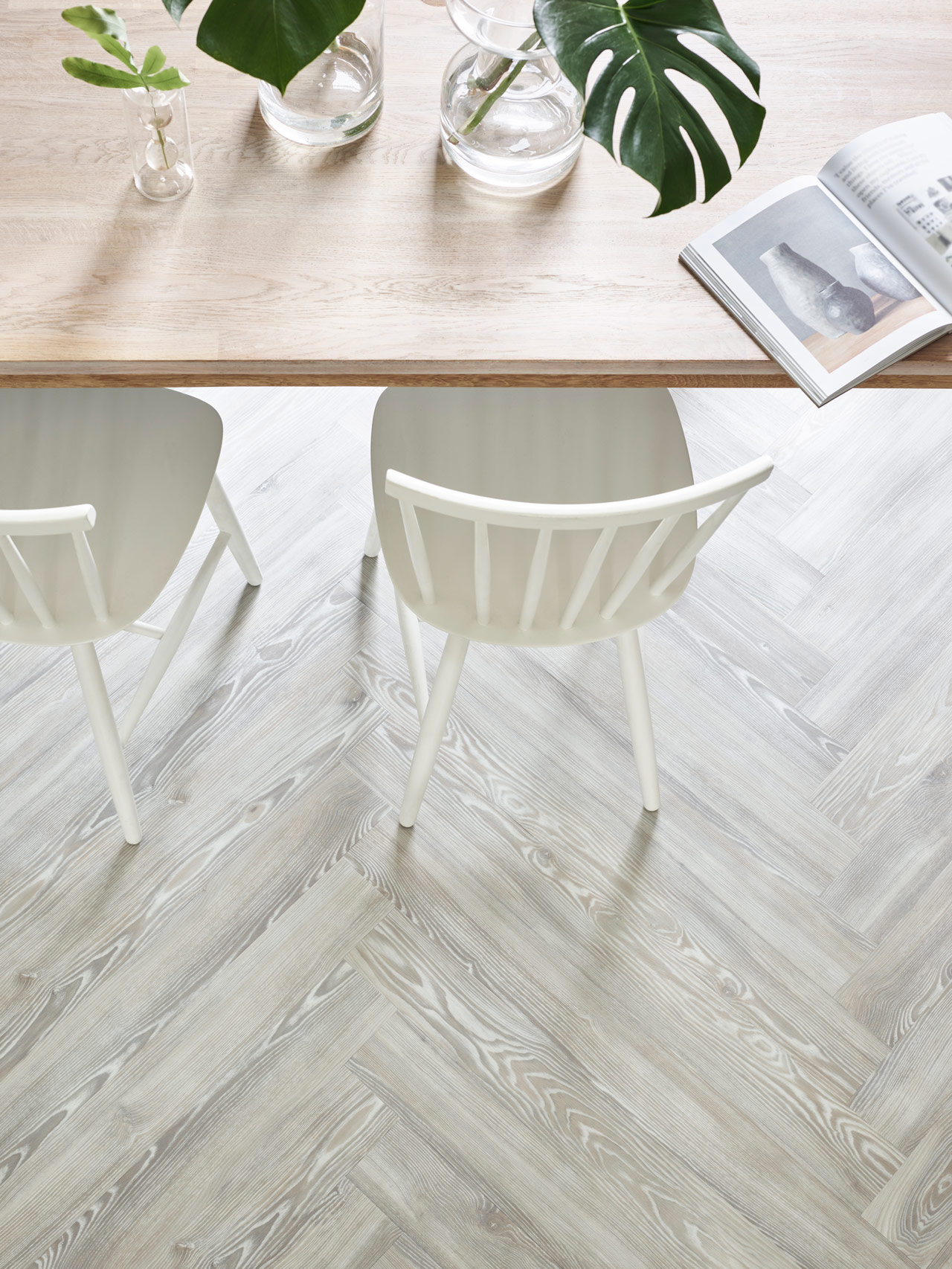 White Ash Beautifully Designed Lvt Flooring From The