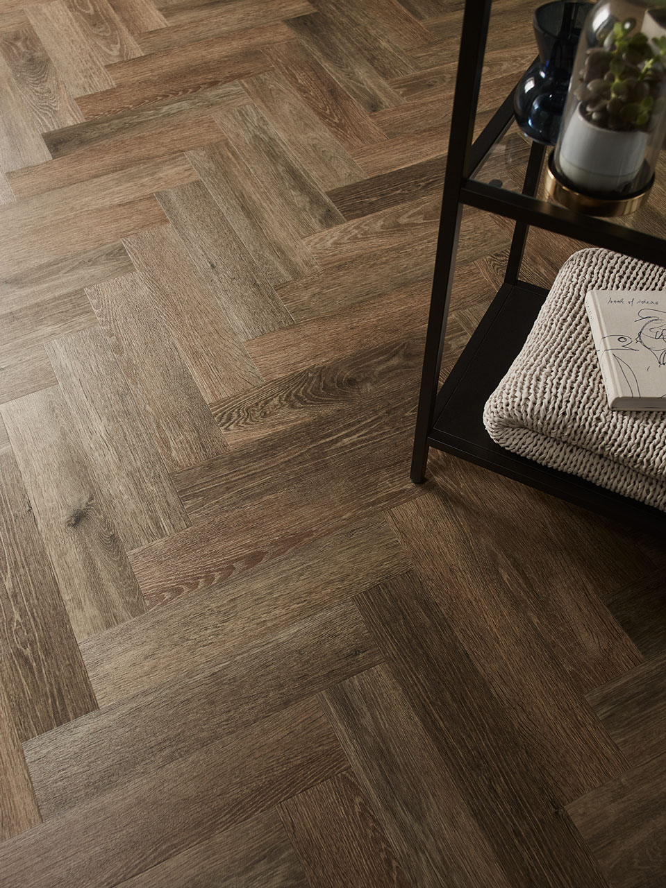 Amtico Spacia Noble Oak in parquet laying pattern