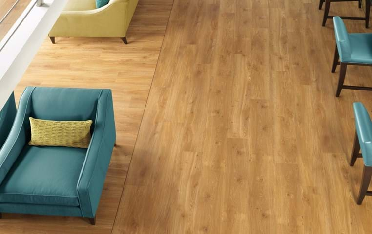 Amtico Spacia in Traditional Oak (SS5W2514) with Black Walnut Stripping