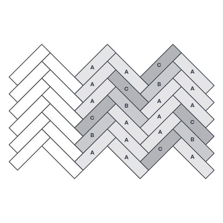 3-colour Small Parquet - EP112 wire image