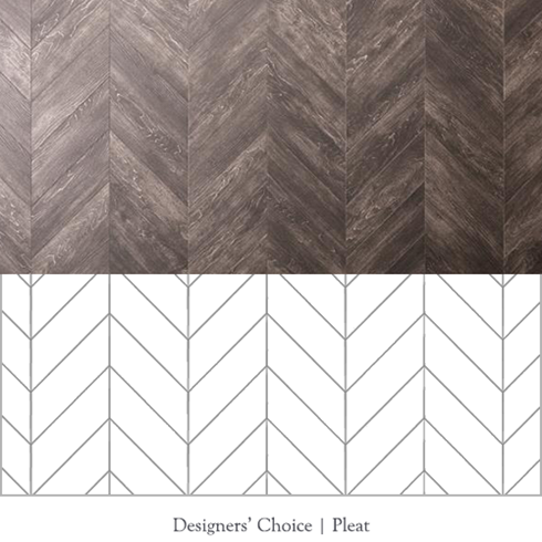 Designers' Choice Pleat pattern outline
