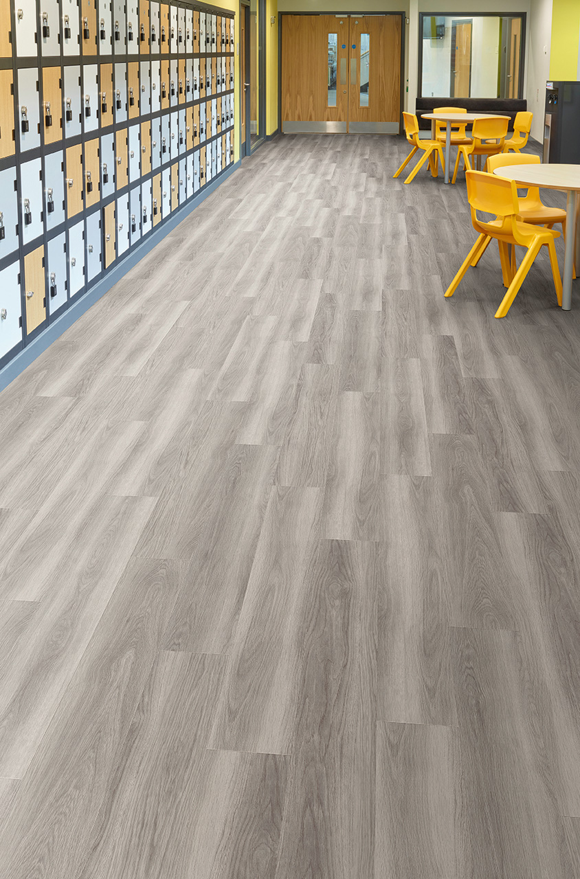Nordic Oak Commercial Slip Resistant Safety Flooring From
