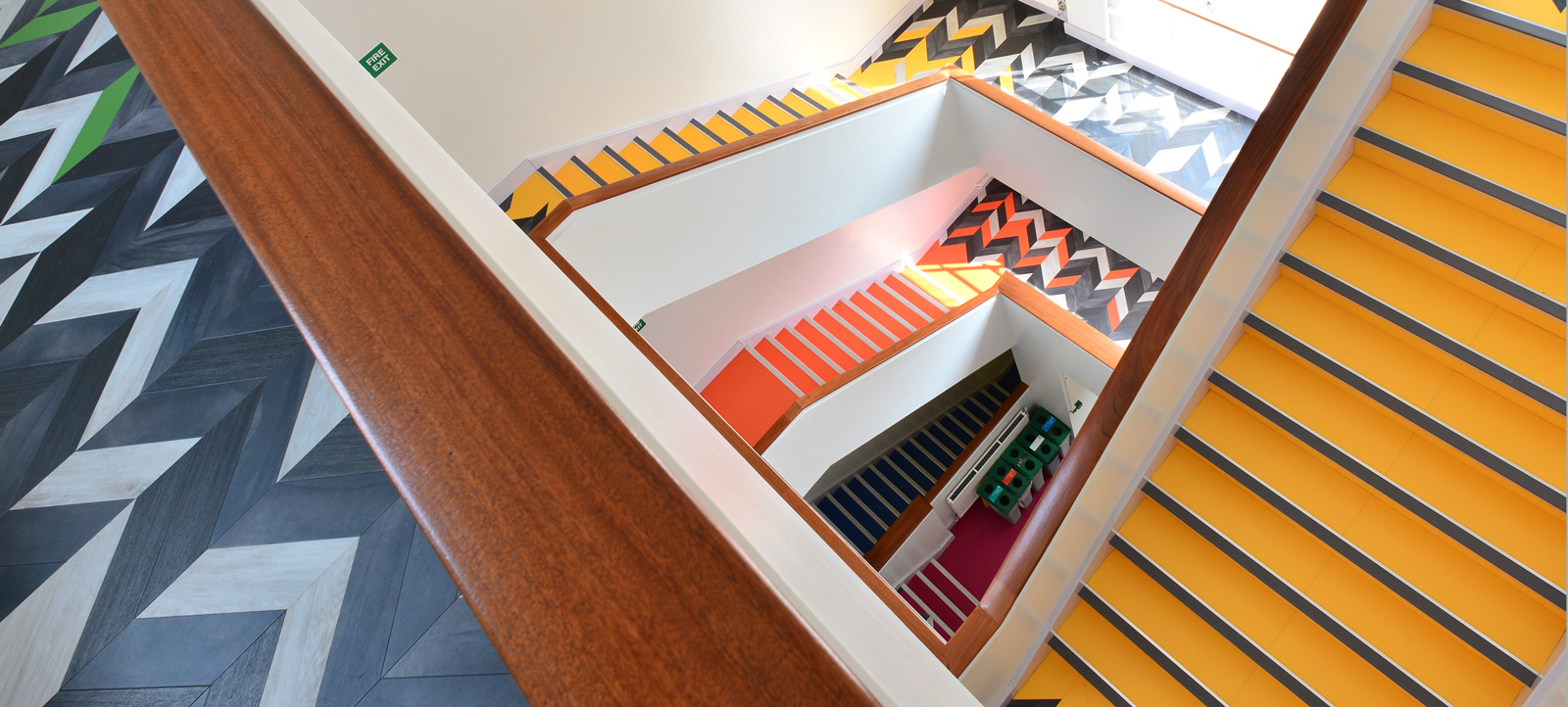 Stairwell at Clothworkers' South Building, Leeds featuring Amtico Signature LVT