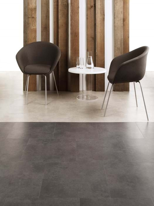 <p>Amtico Access Ceramic Flint SX5S2594 and Amtico Access Ceramic Ecru SX5S3592</p>