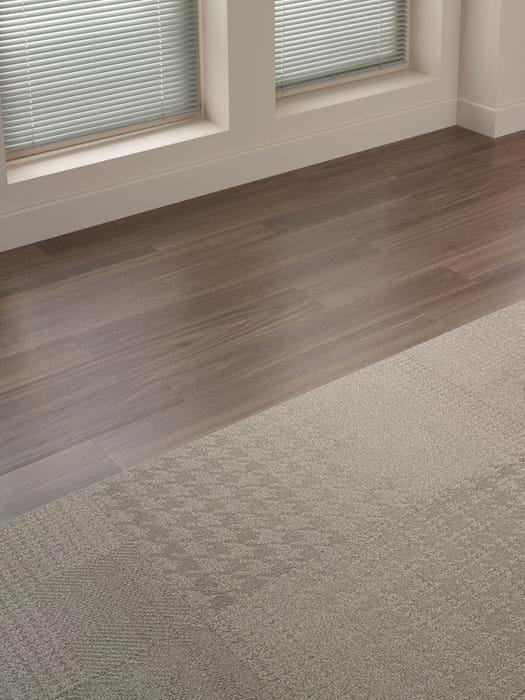 <p>Amtico Access Dusky Walnut SX5W2542 and Amtico Carpet Check Broadcloth YCCHECT11957</p>