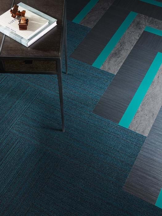 <p>Amtico Signature Stria Volcanic AR0SMS42, Amtico Signature Seoul AR0ACF84 and Amtico Carpet Capital Network Turquoise YDNETWT35257</p>