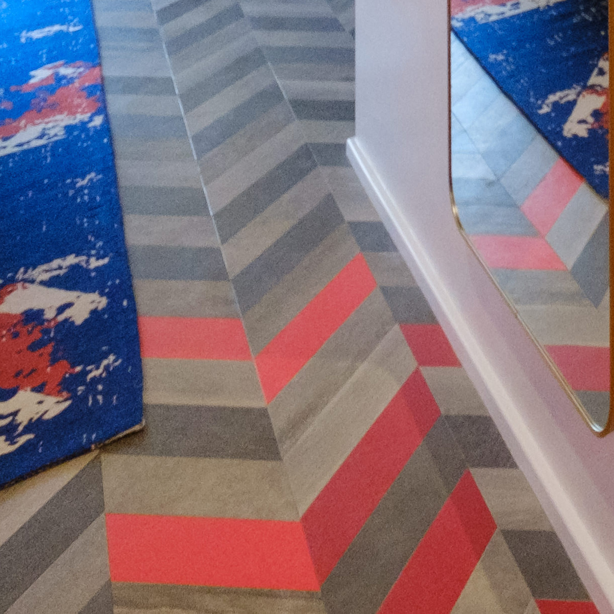 Amtico Signature and Amtico Spacia LVT in a bespoke laying pattern