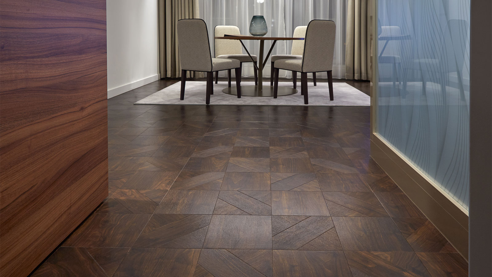 Dark Walnut in a Woven laying pattern from the Amtico Signature collection
