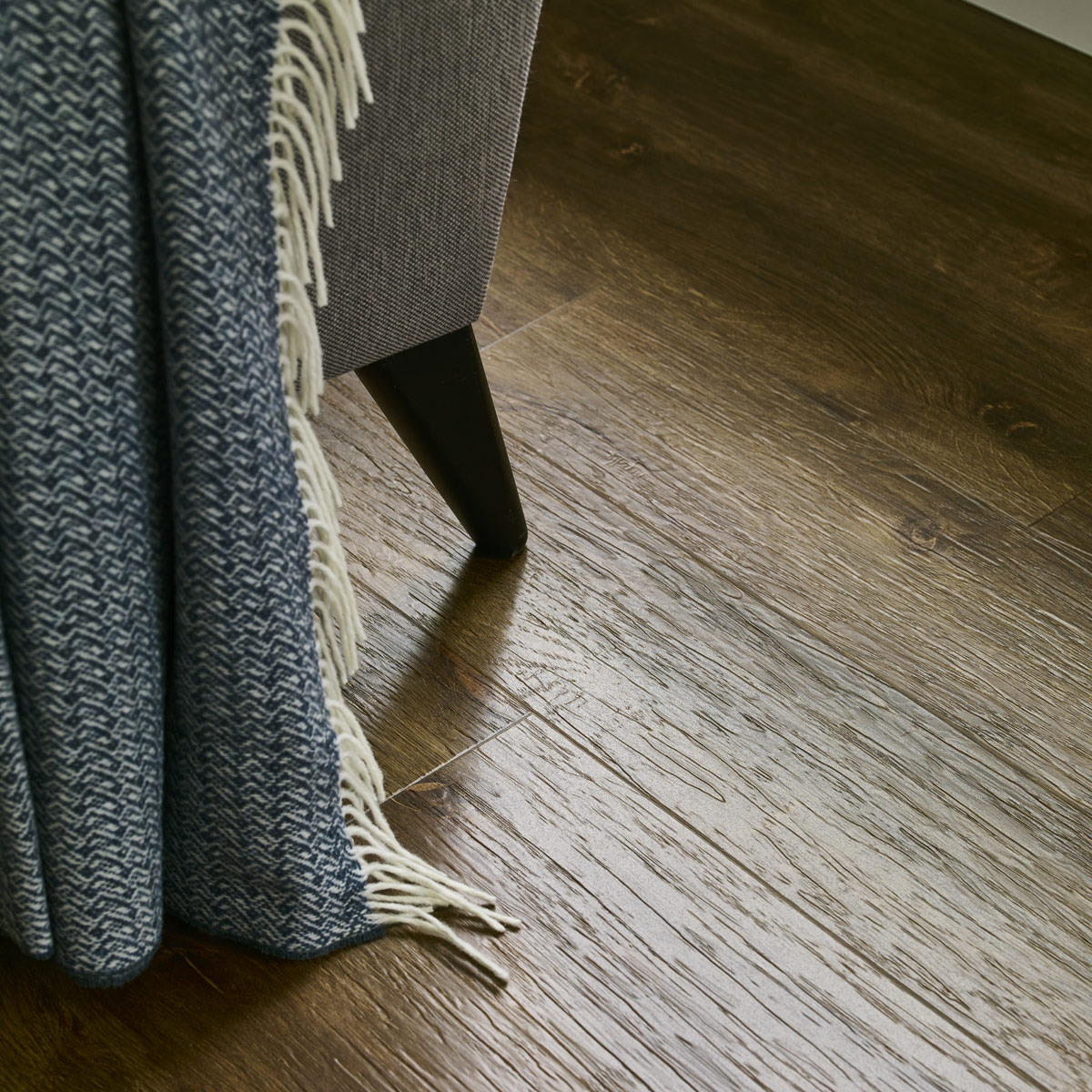Soft furnishings with LVT flooring