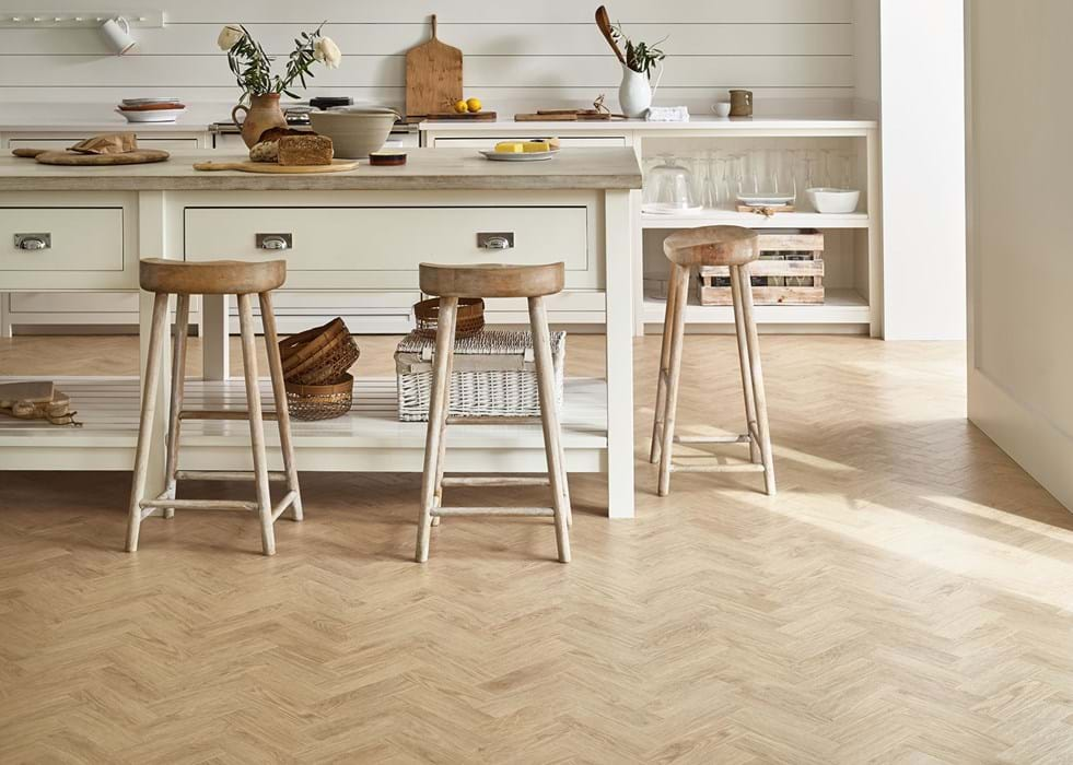 <p>Amtico Form, Eventide Oak FS7W8540, in Small Parquet FP122</p>