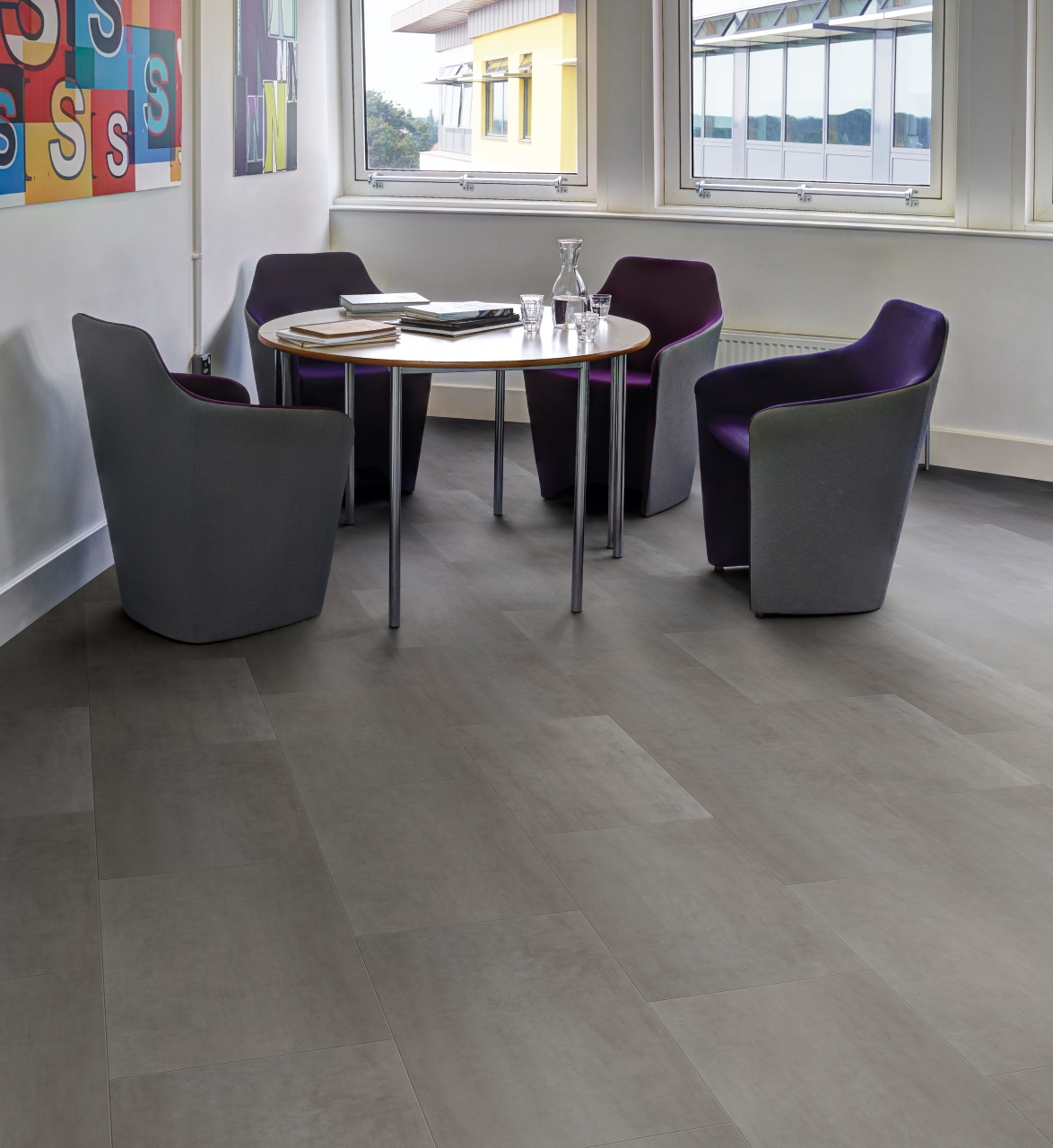 Amtico Spacia LVT in Zinc (SS5A3620)